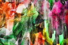 Vieux fond fait main abstrait de papier de dessin Images stock