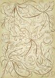Vieux fond floral Image libre de droits
