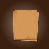 Vieux fond grunge de papier Images libres de droits