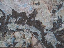 Vieux fond grunge endommagé de mur Image libre de droits