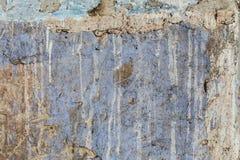 Vieux fond horizontal concret blanc rouge âgé de Gray Brick Wall Texture Destroyed Brickwall malpropre urbain minable Images libres de droits