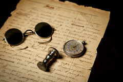 Vieux fond manuscrit de papier Images libres de droits