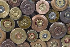 Vieux fond minable de cartouches de tir Image stock