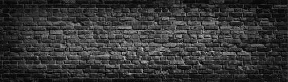 Vieux fond noir de mur de briques Photo libre de droits