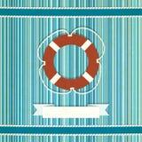 Vieux fond rayé marin illustration stock