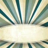 Vieux fond rayé bleu Images stock
