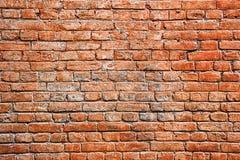 Vieux fond rouge de mur de briques images libres de droits