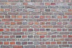 Vieux fond rouge de mur de briques Image libre de droits