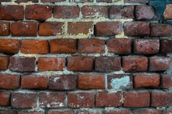 Vieux fond rouge de texture de mur de briques photographie stock