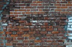 Vieux fond rouge de texture de mur de briques image stock
