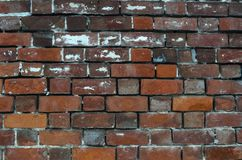 Vieux fond rouge de texture de mur de briques images libres de droits