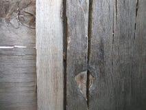Vieux fond texturisé en bois gris avec le noeud et les fissures naturels de modèle image stock
