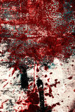 Vieux fond texturisé rayé rouillé rouge en métal Photo libre de droits
