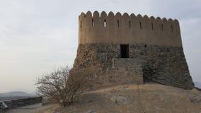 Vieux fort au Foudjairah Image libre de droits