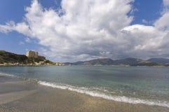 Vieux fort côtier italien Image libre de droits