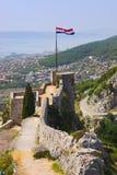 Vieux fort dans le fractionnement, Croatie Images libres de droits