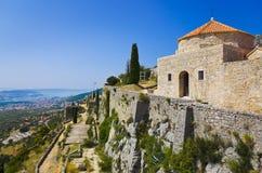 Vieux fort dans le fractionnement, Croatie Photo stock