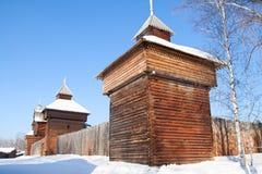 Vieux fort dans le musée d'Irkoutsk Photo stock