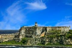 Vieux fort sous Nice le ciel photographie stock libre de droits
