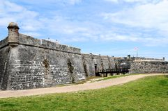 Vieux fort, St Augustine, FL Image stock
