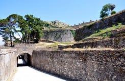 Vieux fort, ville de Corfou, Grèce Photo libre de droits