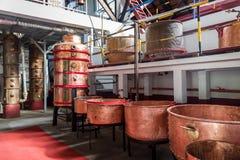 Vieux four d'usine de rhum à Porto DA Cruz, île de la Madère photos stock