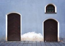 Vieux fragment de bâtiment de ville Images libres de droits
