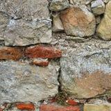 Vieux fragment de mur en pierre Photographie stock libre de droits