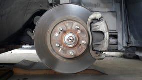Vieux frein à disque et calibre Images stock