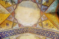 Vieux fresque dans le palais Chehel Sotoun images stock