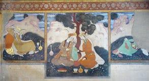 Vieux fresque dans le palais Chehel Sotoun photographie stock libre de droits