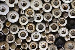 Vieux fusibles en céramique Photographie stock