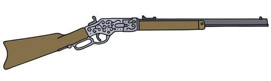 Vieux fusil américain Photos stock