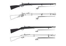 Vieux fusils Image stock