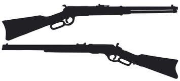 Vieux fusils d'Américain Photo stock