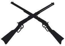 Vieux fusils d'Américain Images libres de droits