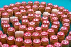 Vieux gain de fond de bois-matériel de loto Photographie stock