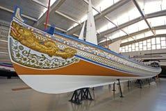 Vieux galion de bateau dans le musée maritime, Lisbonne, Portugal Photographie stock libre de droits