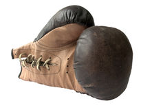 Vieux gants de boxe Images libres de droits