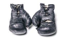 Vieux gants de boxe Image stock
