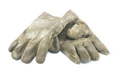 Vieux gants de sales travaux photo stock