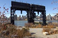 Vieux Gateway vers le Long Island Photos stock
