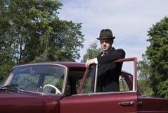 Vieux gestionnaire de véhicule image libre de droits