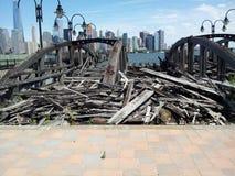 Vieux glissements de ferry, Liberty State Park Image libre de droits