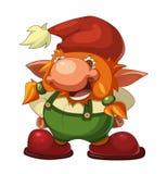 Vieux gnome gai Image libre de droits
