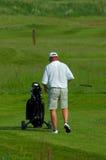 Vieux golfeur Images libres de droits