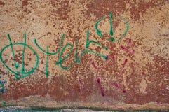 Vieux graffiti de mur Images libres de droits