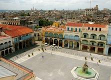 Vieux grand dos à La Havane Photo stock