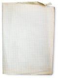 vieux grand dos de papier rayé Images libres de droits