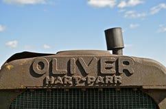 Vieux gril de tracteur de Hart Part Oliver Image libre de droits